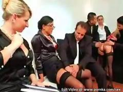 Hungarian hotties throw excliusive silk and satin fetish sex party feature
