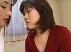 Sexy Japanese lesbians at work