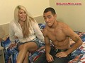 Muscular bisexual Latino fucks a hot blonde