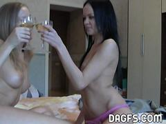 Angelina and Nomy teasing in the afternoon