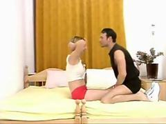 sporty Russian Naughty Teen Tight pussy Defloration by older man