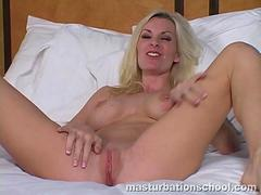 Naughty Blonde Jerk Off Instructions