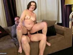 Fat ugly granny enjoys having nasty hardcore sex