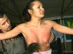 Pussy and breast whipped Isabell
