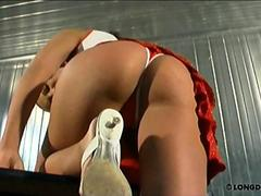 Asshole caning with Isabell
