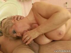 Hot busty grandma getting fucked