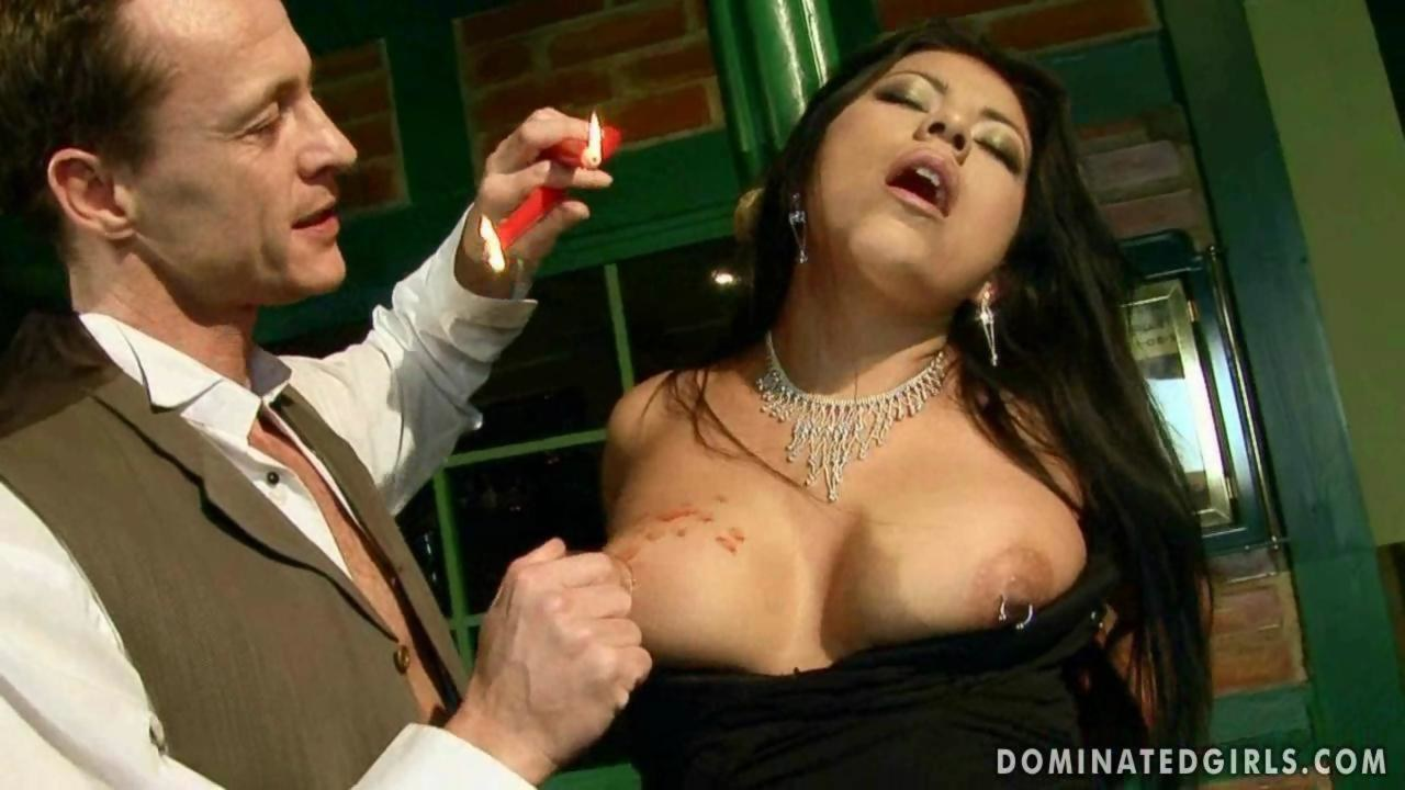 Ballgagged bdsm babe dominated and bound 3