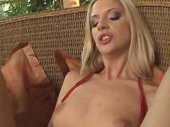 Licked blonde shaved closeup masturbation squirting tattoo toy toys pussy licking