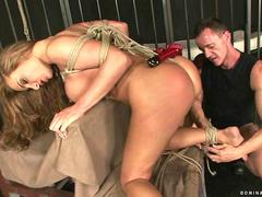 Busty slavegirl gets punished