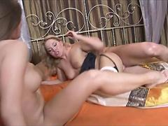 Hot blondes do a threesomes and share one dick movie