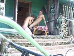 Garri and Martin love to fuck each other outside