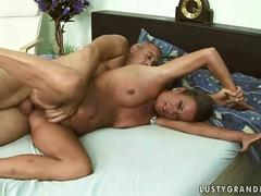 Lusty mature lady getting her ass drilled