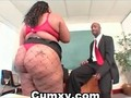 BBW Huge Ass Ebony Drilled