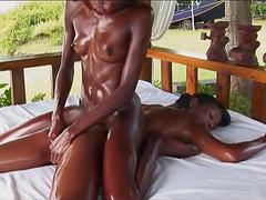 Magic Massage for hot lesbian babes