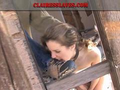 Lesbian femdom - Mistress Claire and slave brandi