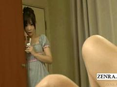 Subtitle Japanese schoolgirl watches teacher masturbate