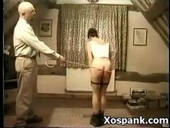Cruel Extreme Spanking for the brunettes ass