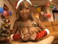 Dark Tanned Slutty Japanese Santa Chick