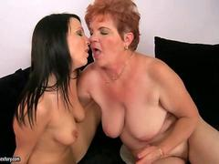 Fat granny loves a young pussy to munch and to kiss