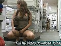 Naughty teen masturbates in a big department store