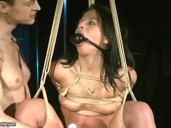 Master playing with sexy slave girl