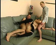 First gang bang for Lola as she is too horny