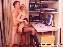 Amateur girlfriend anal action with facial