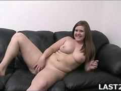 Bbw casting teen takes on two guys for a cumshot
