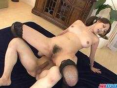 Akari Asagiris feels the heat of a creampie