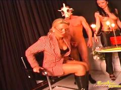 Slaves place is at his mistresss feet like a devoted dog