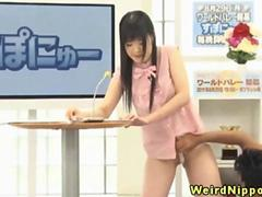 Japanese cutie fingered on tv