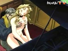Tied up hentai chick porn