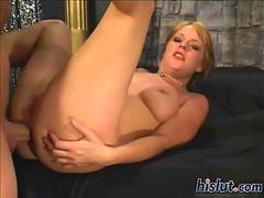Missy is a professional slut sucking on a stiff rod