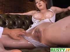 Momoka busty and oiled is fucked