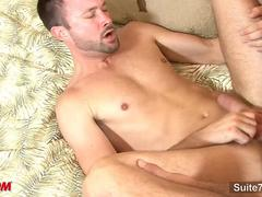 Married dude gets fucked on the couch by a gay