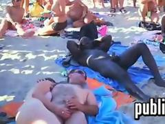 Swingers Fucking In Public At A Beach