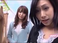 Two Japanese femdoms tease with their feet
