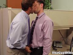 Office hunks cocksucking before assfucking