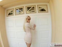 Allinternal sexy blonde sucks and fucks before creampie