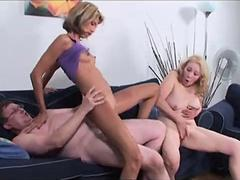 granny threesome blowjob
