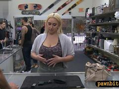 Big curvy slut pawns her pussy and gets drilled doggy style