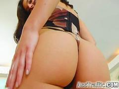 Ass Traffic Girl with giant tits and gets screwed in the butt