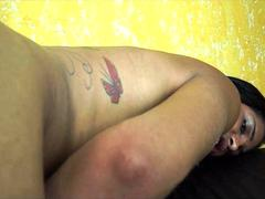 Small Titted Latina Shemale Bareback