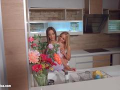 My kitchen love by Sapphic Erotica - Kiara Lord and Suzie C lesbians