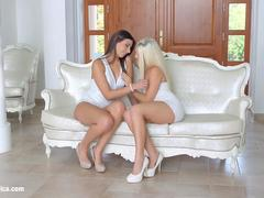 Straight To The Point by Sapphic Erotica - Blanche Bradburry and Carla Cruz lesbians