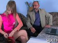 Old man is deep into fucking her wet pussy pie