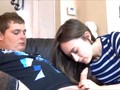 Russian brunette teen sucks and fucks