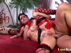 Two rubber ladies Dana DeArmond and Tori Lane