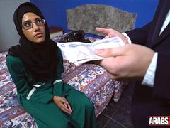 Arab girl paid to suck 2 dicks