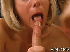 Short hair blonde wife fucked doggy style by her secret lover